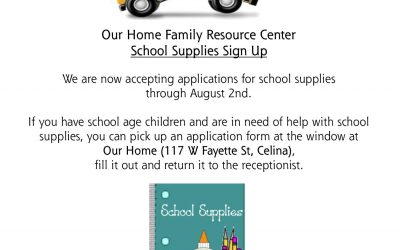 School Supply Sign-Up: July 2-August 2