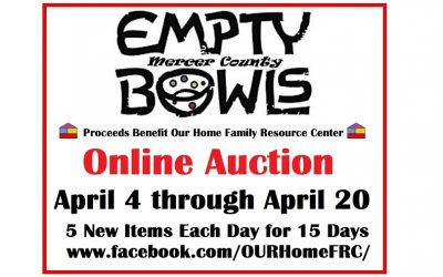 Empty Bowls Mercer County Online Auction: Runs Thru April 20!!